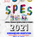 SPES (SPECIAL PROGRAM FOR EMPLOYMENT OF STUDENTS) 2021